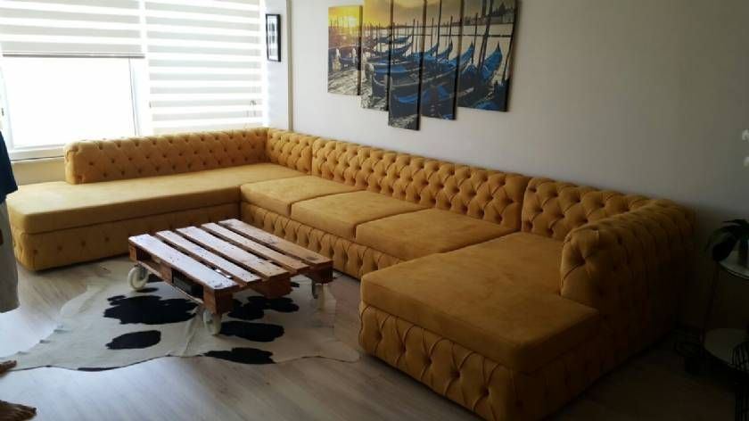 U shaped Luxury chesterfield corner sofa Italian design