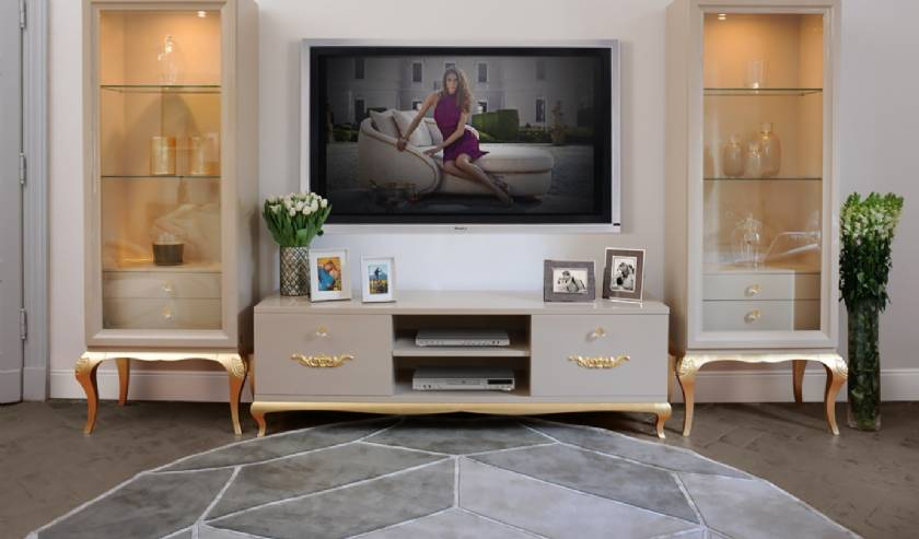 ultra modern luxury house Modern TV Stands Entertainment Centers