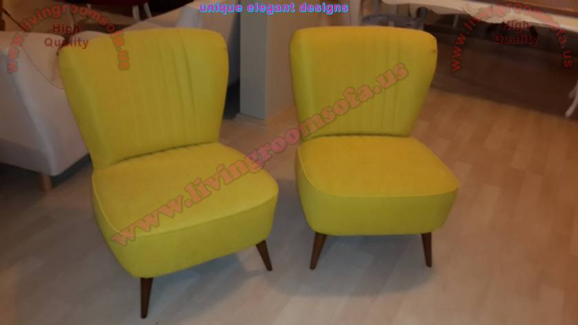 Unique armless couple chairs modern design chairs