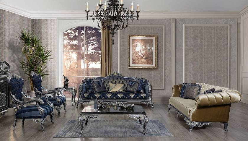 VIctorian Luxury Sofa Set Elegant Luxurious Living Room Set