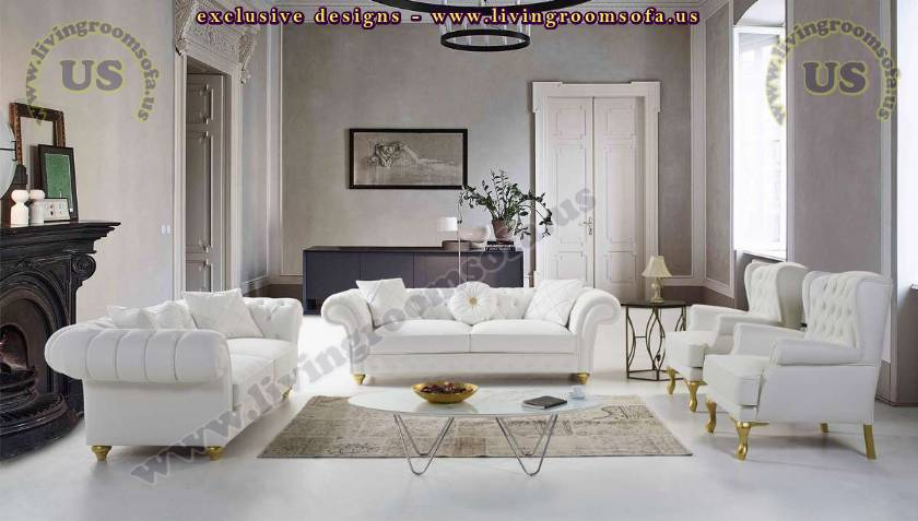 white chesterfield sofa set luxury elegant sofas