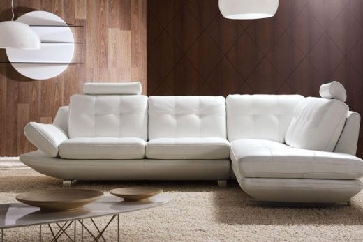 White Pearl Sofa, Leather Sofa, White Leather Sofa