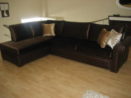 Leather Sectional Sofa Dark Brown Livingroom Design