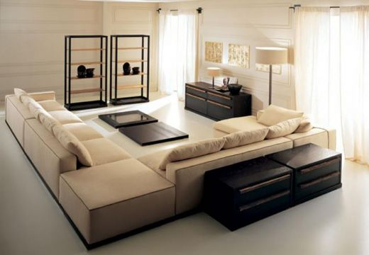 Sectional Sofa Modern Sofaleather Livingroom