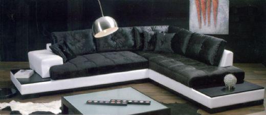 Modern Microfiber Corner Sofa, Microfiber Sofa, Corner Sofa