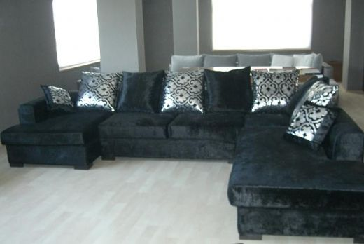 Velvet Corner Sofa, Look Good on Living Rooms