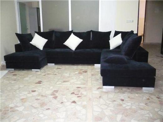 Velvet Fabric Living Room Corner Sofa Living Room Sofa