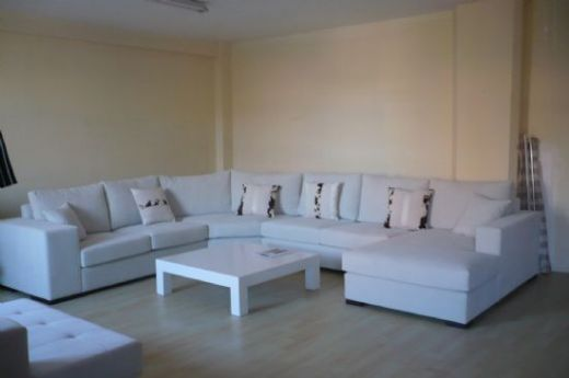 White Leather Corner Sofa - Living Room Sofa and Corner Sofa