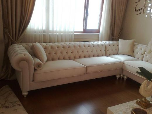 Modern Corner Chesterfield Style Sofa Modern Living Rooms 2011