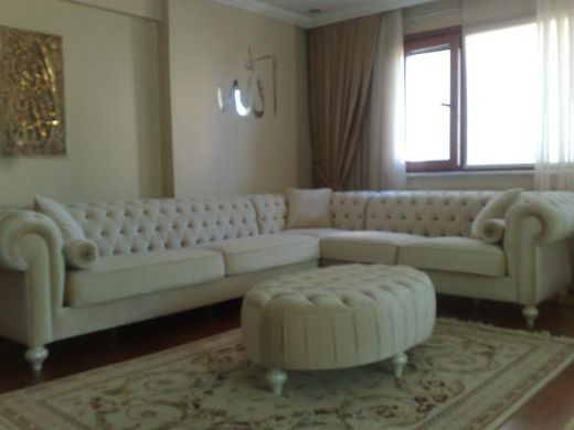 Chesterfield Leather Sofa - Living Room Sofa and Corner Sofa