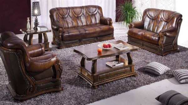 Classic Leather Living Room Sofas Classic Living Room Furniture Living Room  Sofas Traditional Style Part 65