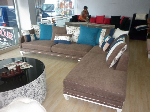 brown l shaped corner sofas