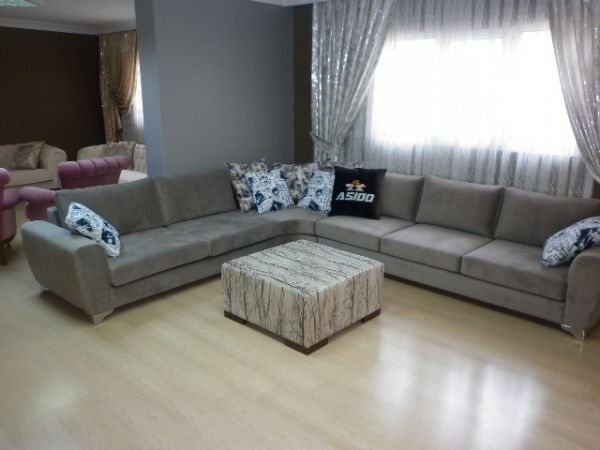 L Shaped Modern Living Room Sectionlal Corner Sofa Black ...