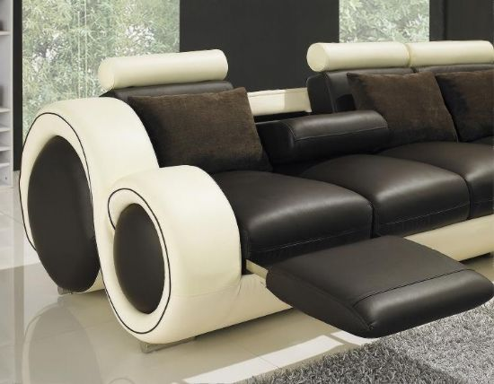 Sectionals with Recliners Sofa Leather Reclining Sofas Double