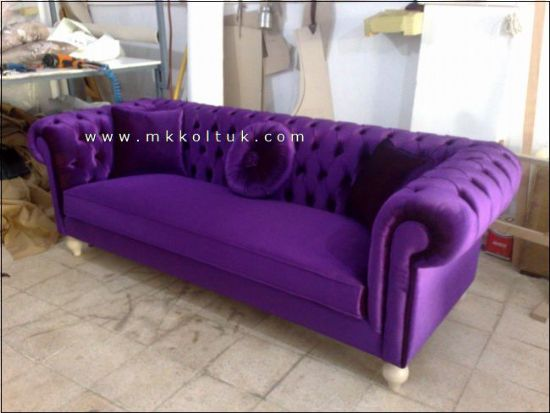 American Chesterfield Counches Blue Purple Pink Handmade