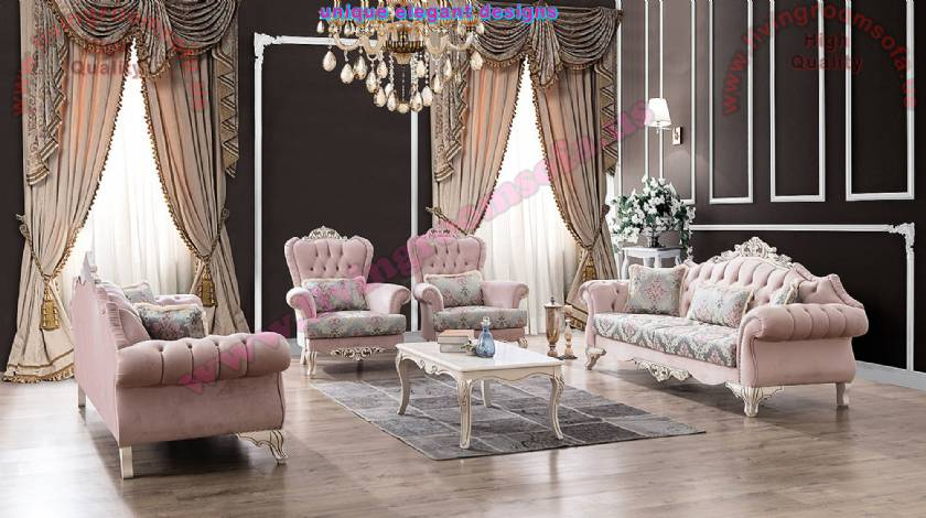 Luxury Classical Sofa Set with coffee table Luxurious Classic Living Room