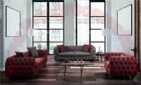 Modern Luxury Living Room Sofas Nubuck Quilted Handwork