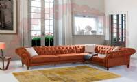 San Diego L Shaped Corner Sofa Quilted Chesterfield Sofas