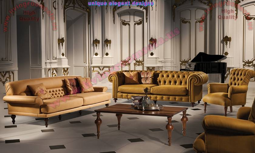 Trump Luxury Living Room Sofa Leather Boutique Handwork