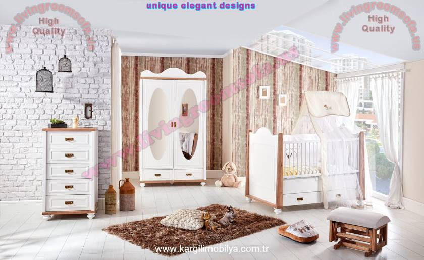 baby boy nursery ideas Wood Baby Room Furniture Design