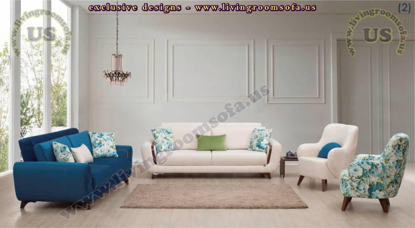 Elegant Design Modern White and Blue Sofa Elegant Living Room Sofa