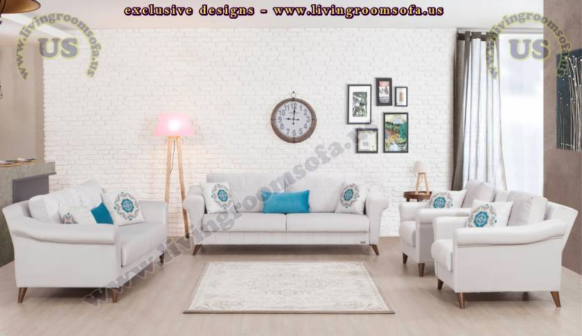 Eye-Catching White Living Room Sofa Spacious Design Idea