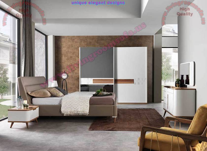 Modern Bedroom Furniture Mirrored Bedroom Furniture