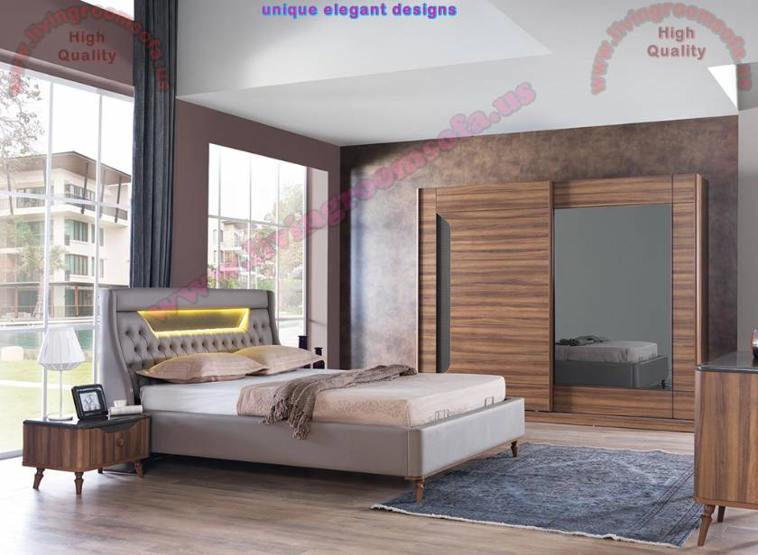 Modern Brown Bedroom Furniture Sets