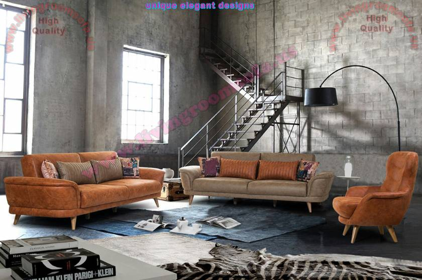 Modern Brown Living Room Sofa Sets Decoration