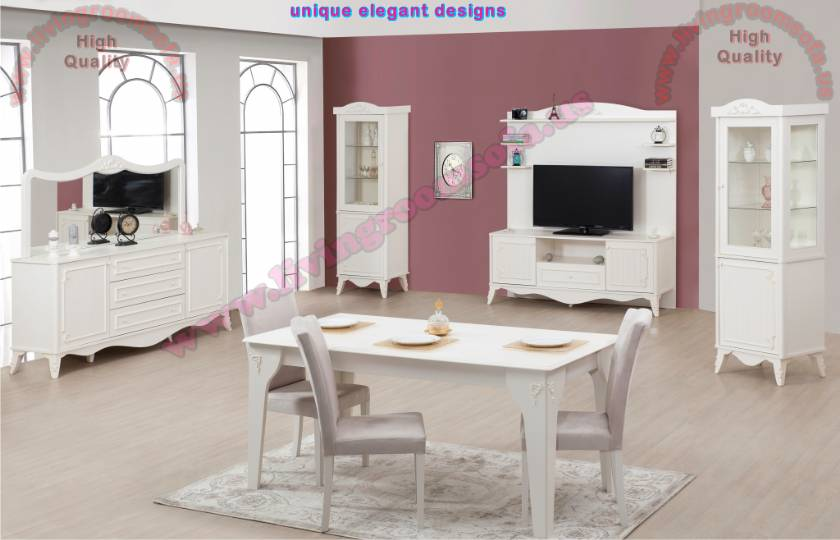 White Modern Dining Room Sets modern dining room sets white dining room furniture - interior design