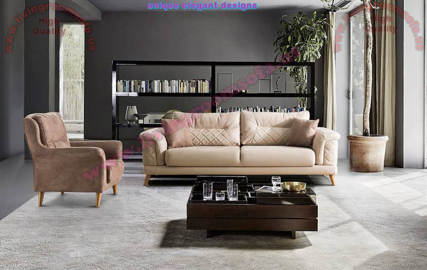 Modern Leather Living Room Sofa Design Ideas
