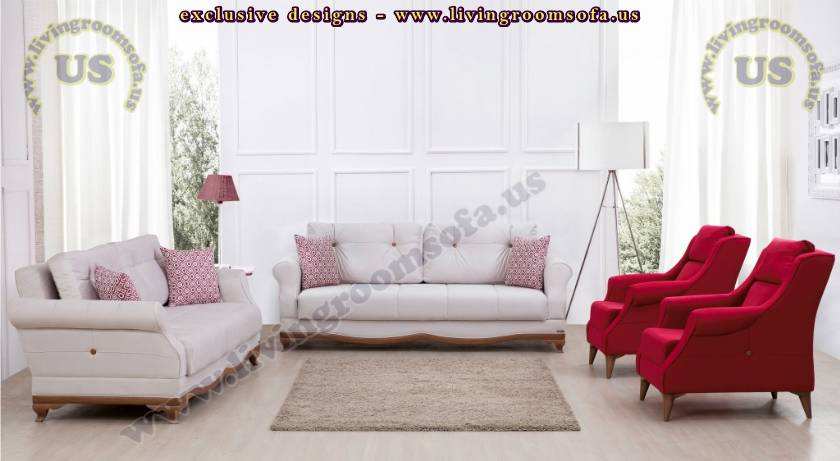 Modern Padded Quilted Sofa Back Padded Spacious Comfortable Livingroom