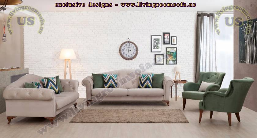 Quilted Sofa Modern Design Spacious Colors
