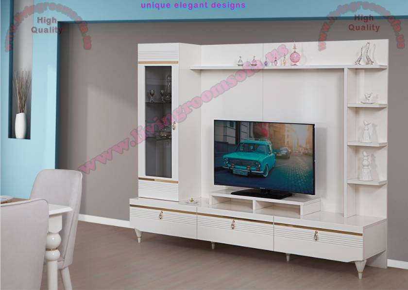 Tall White TV Unit Design Ideas