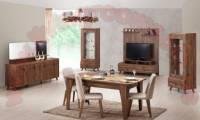 Brown Set Sumptuous Dining Room Modern Design