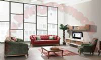 Modern Red And Green Leather Sofa Design Ideas