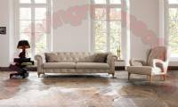 Quilted Modern Design White Living Room Sofa