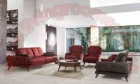 Red Fabric Living Room Furniture Design
