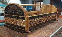 Wooden Antique Hand Carved Crib Model