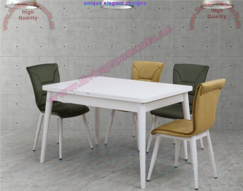 Kitchen table sets wooden table and chair interior design for Leather chairs for kitchen table