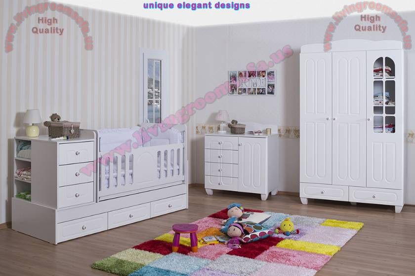 White Nursery Furniture Decor Design Ideas