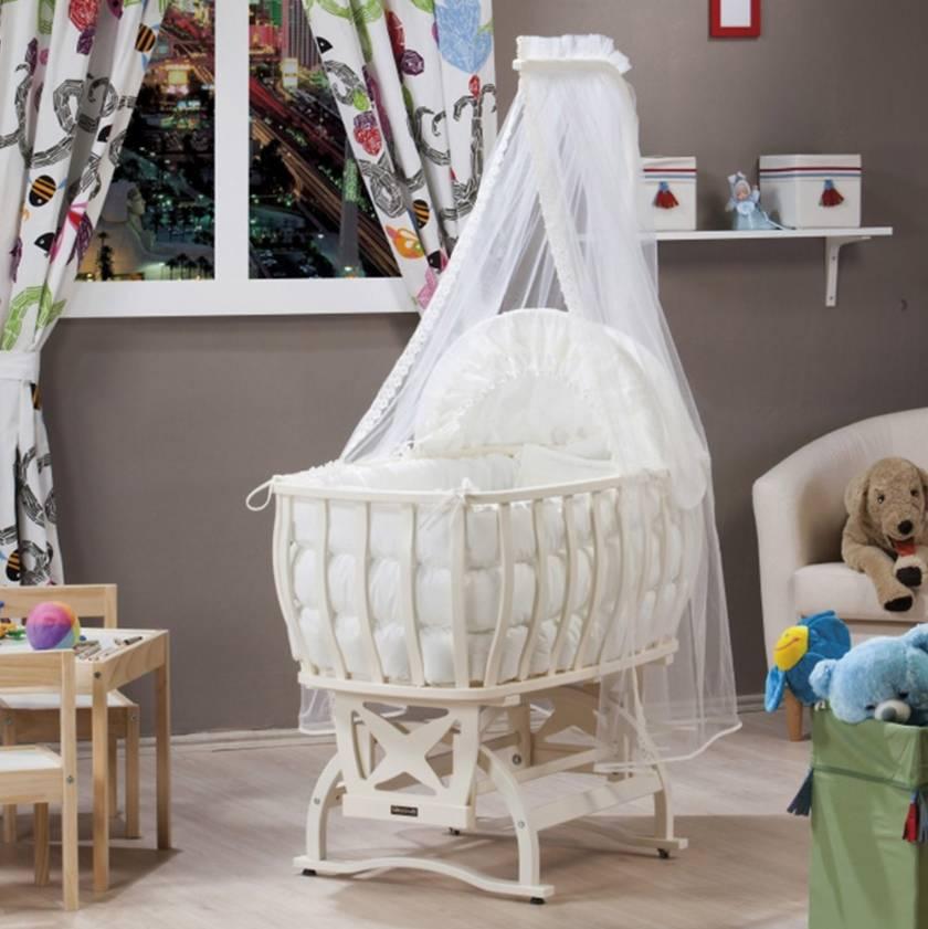 Wooden Hammock Baby Cradle Modern Newborn Baby Hammock Models