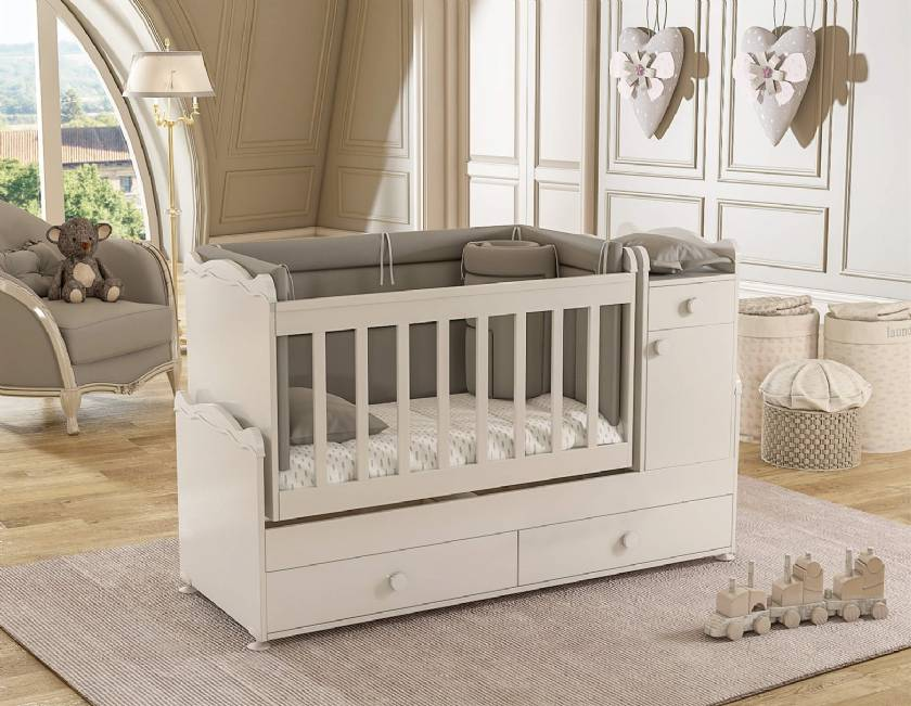 Wooden Rocking Growing Cradle Models