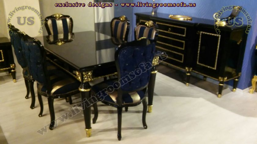 Classical Dining Room Furniture Black Design