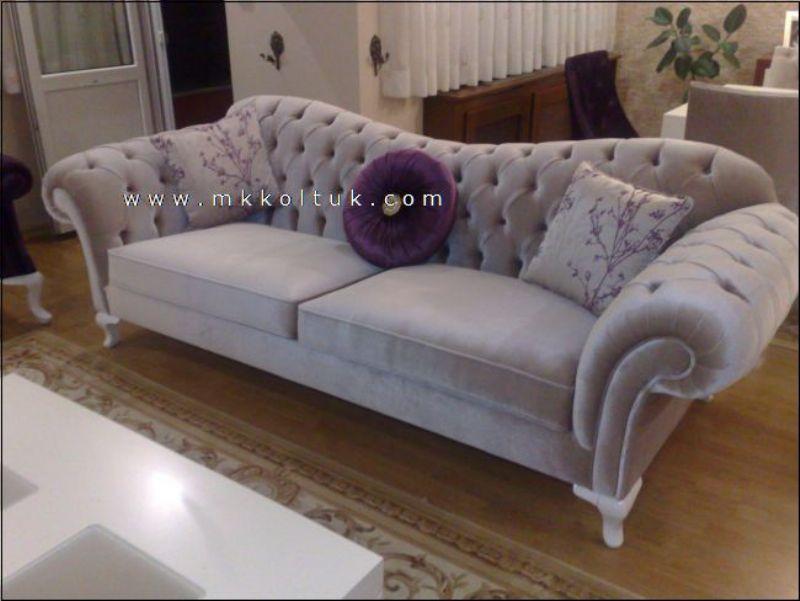 Velvet Chesterfield Seat Sofa in Cream High Quailty interior design