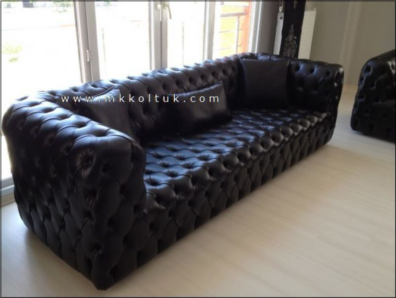 chesterfield contemporary sofa modern elegant business interior design. Black Bedroom Furniture Sets. Home Design Ideas