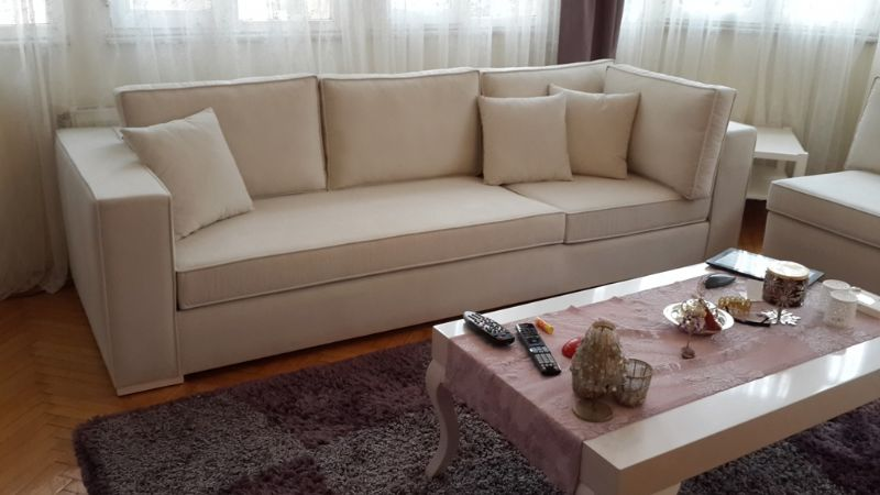 Modern beige living room sofa