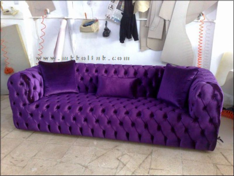 Charming Purple Chesterfield Sofa New Style