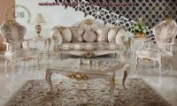 Avantgarde classic sofa set patterned fabric