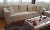 Modern beige living room sofa